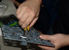 Preparando las miniaturas