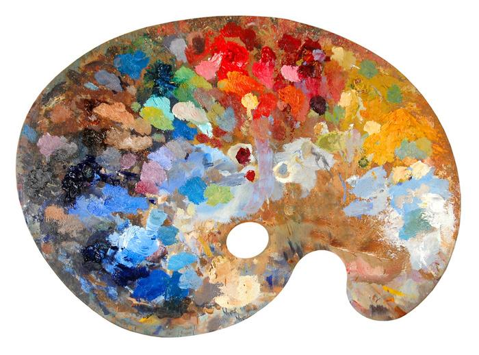La paleta pintor de miniaturas - Paleta de pinturas ...